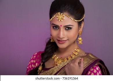 beautiful Indian woman wearing bridal look