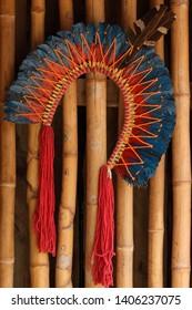 Beautiful Indigenous Headdress of Feathers