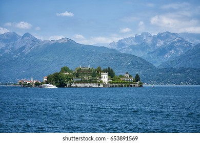 Beautiful inhabited little island called Isola Bella from northern Italy on Lago Maggiore (Grand Lake)