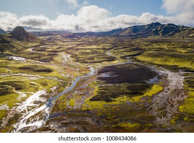 Beautiful inland full of colours, Iceland