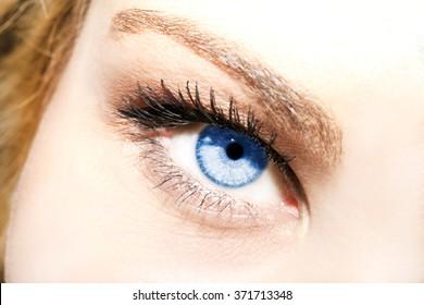 Beautiful insightful look blue eyes