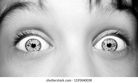 A beautiful insightful look boy's eye. Close up shot.