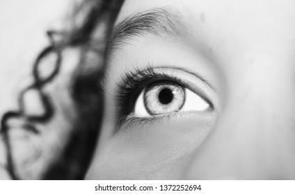 A beautiful insightful look eye. Close up shot.
