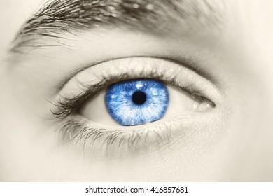 Beautiful insightful look men's vintage eyes