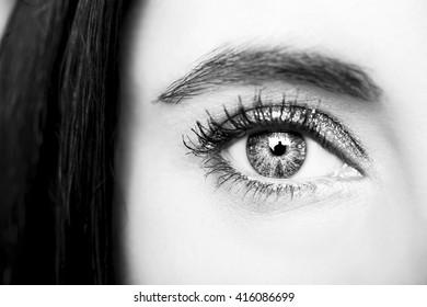 Beautiful insightful look woman's eyes