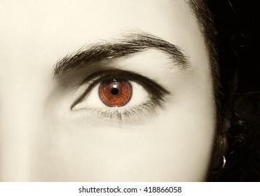 Beautiful insightful look women's vintage eyes