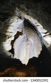 Beautiful interior of Waitomo Caves, New Zealand