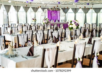 beautiful interior of a wedding banquet in a serene style