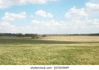 Beautiful Iowa Landscape Farmlands Pasture Land Scenic