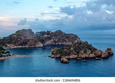 Beautiful island close toTaormina, Sicily, Italy