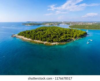 Beautiful Island Fratarski near Pula
