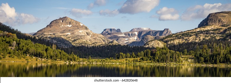 Beautiful Island Lake in the early morning light, near Beartooth Pass in Montana
