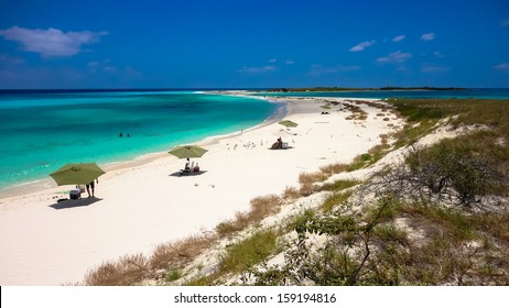 Beautiful island to relax in the archipelago of Los Roques, Caribbean