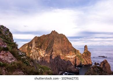 Beautiful island,Dokdo is the east end territory of Republic of Korea.