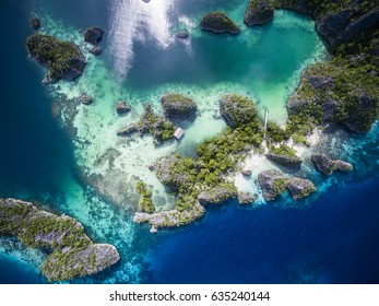 The beautiful islands and colors around Fam Island, Raja Ampats, West Papua, Indonesia