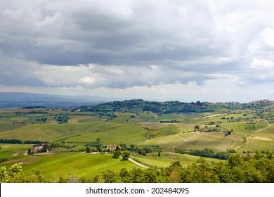 Beautiful Italy Tuscan landscape