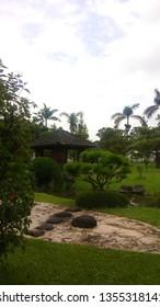 Beautiful Japan Park in Nusantara Flower Park in Cianjur, Indonesia.