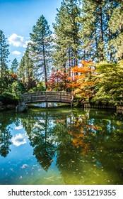 The beautiful Japanese Garden at Manito Park in Spokane, Washingon