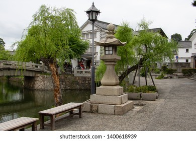 Beautiful Japanese old town in Kurashiki, Okayama, Japan, Jul 20, 2017