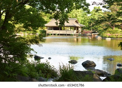 Beautiful Japanese Park with Lake view