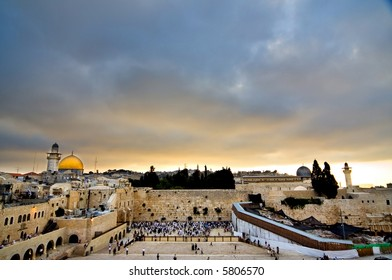 Beautiful Jerusalem landscape at sunrise