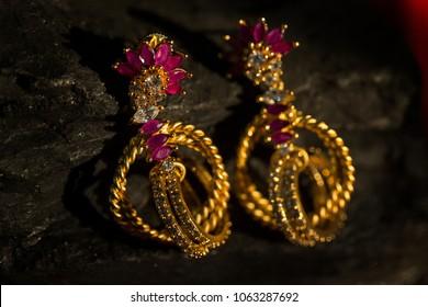 beautiful jewellery in low light