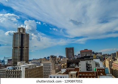Beautiful Johannesburg city skyline and hisgh rise towers and buildings