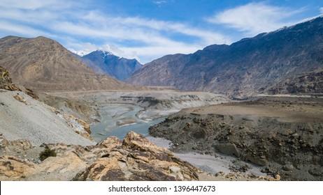 Beautiful Junction Point of Three Mountain Ranges, Gilgit, Pakistan