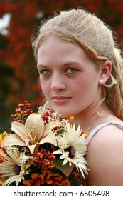 Beautiful junior bridesmaid