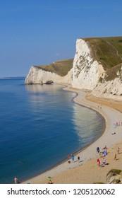 Beautiful Jurassic coast in Dorset UK