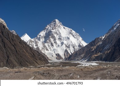 Beautiful K2 mountain and Baltoro glacier, Pakistan