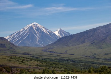 Beautiful Kamchatka landscape, volcano Oval Zimina