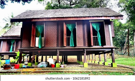 Beautiful kampung house with green curtain
