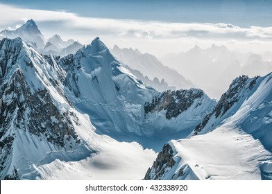 Beautiful Karakorum mountains; view from Camp III on Gasherbrum II