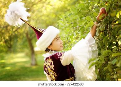 beautiful kazakh woman in national costume