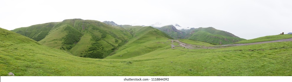 Beautiful Kazbegi mountain ranges