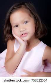 beautiful kid girl isolated on a background