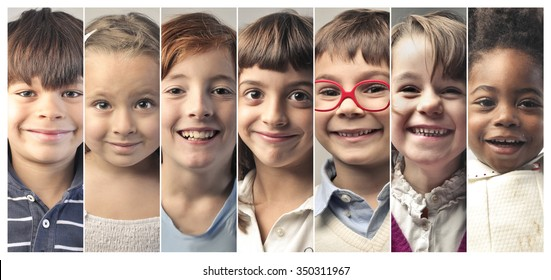 Beautiful kids' smiles