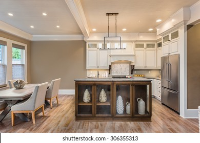 Beautiful Kitchen and Dining Room in New Luxury Home