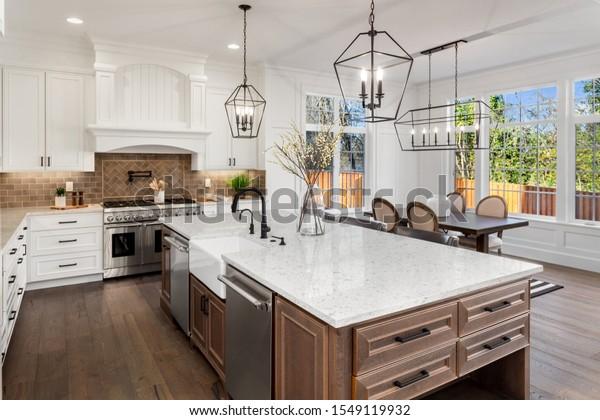 Beautiful Kitchen New Traditional Style Luxury Stock Photo Edit Now 1549119932