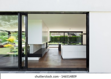 beautiful kitchen view from the outside