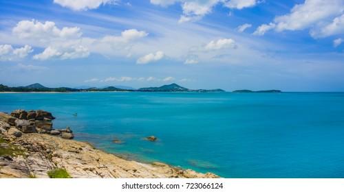 Beautiful Koh Samui  island at andaman sea in Surat thani Thailand