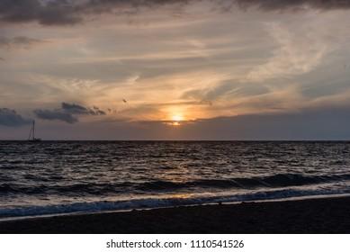 Beautiful Kohala coast sunset on the Big Island of Hawaii