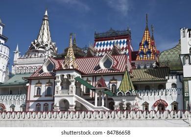 Beautiful kremlin in Izmailovo, Moscow, Russia