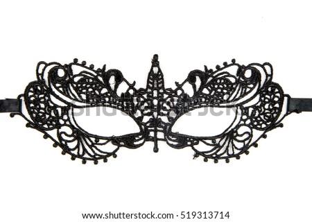 8603e00bc6 Beautiful lace masquerade vintage gothic mask isolated on white background