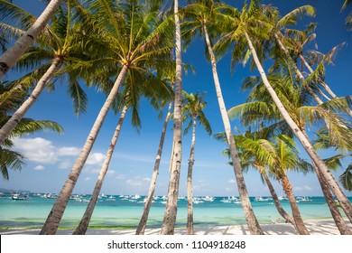 Beautiful ladscape of Boracay island, Philippines