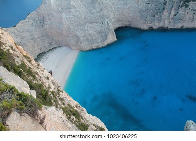 Beautiful lagoon on the island of Zakynthos in Greece