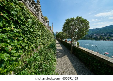 Beautiful laid gardens on Isola Bella from Lago Maggiore, Italy
