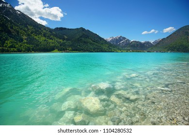 beautiful lake of Achensee in Tirol Alps, Austia