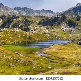 Beautiful Lake in Aiguestortes National Park, Catalan Pyrenees